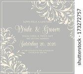 wedding invitation card | Shutterstock .eps vector #173272757