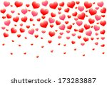 abstract red hearts | Shutterstock . vector #173283887