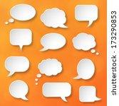 shiny white paper bubbles for... | Shutterstock .eps vector #173290853