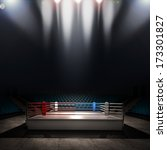 boxing ring. high resolution 3d ... | Shutterstock . vector #173301827