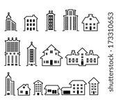 building vector set | Shutterstock .eps vector #173310653