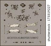 set of vintage hipster labels ...   Shutterstock .eps vector #173319227