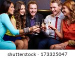group of friends toasting with... | Shutterstock . vector #173325047