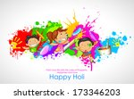 illustration of kids playing...   Shutterstock .eps vector #173346203