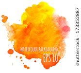 abstract vector watercolor... | Shutterstock .eps vector #173352887