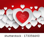 valentines day background with... | Shutterstock .eps vector #173356643