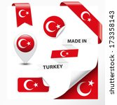 made in turkey collection of... | Shutterstock .eps vector #173358143