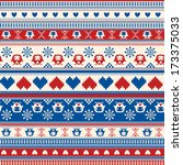seamless winter sweater pattern ... | Shutterstock .eps vector #173375033