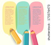speech bubbles with pencils.... | Shutterstock .eps vector #173376473