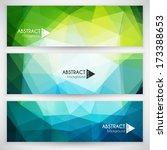 abstract geometric triangular... | Shutterstock .eps vector #173388653