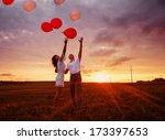 Wedding Couple With Balloons...