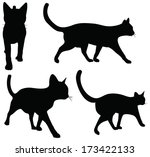 Stock vector eps vector collection of cats silhouettes 173422133
