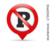 No Parking Sign  Vector Eps10...