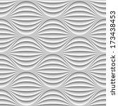 white seamless texture. wavy... | Shutterstock .eps vector #173438453