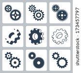 vector gears  cogwheels icons... | Shutterstock .eps vector #173457797