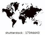 world map | Shutterstock . vector #17346643
