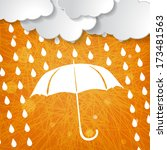 clouds with white umbrella and... | Shutterstock .eps vector #173481563