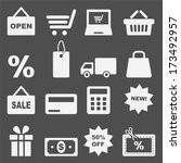 shopping icon set  | Shutterstock .eps vector #173492957
