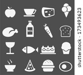 food icons set.vector  | Shutterstock .eps vector #173493623