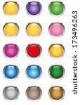 glassy buttons | Shutterstock .eps vector #173496263