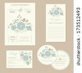 set of wedding invitation cards ... | Shutterstock .eps vector #173512493