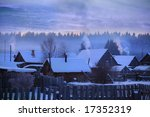 Russian Village Winter
