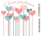 happy valentine's day greeting... | Shutterstock .eps vector #173539673