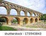 Pont Du Gard  Old Water Line O...