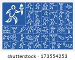 raster icon set collection of... | Shutterstock . vector #173554253