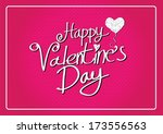 happy valentines day cards  | Shutterstock .eps vector #173556563