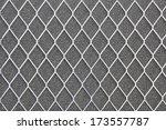metal grid on gray background ... | Shutterstock . vector #173557787