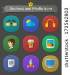 business and media icons....