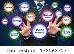 online marketing concept | Shutterstock . vector #173563757