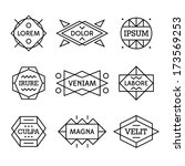 minimal monochrome geometric... | Shutterstock .eps vector #173569253