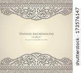vintage background design ... | Shutterstock .eps vector #173576147
