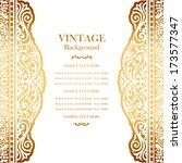 vintage gold background design  ... | Shutterstock .eps vector #173577347
