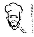 american cuisine chef portrait... | Shutterstock .eps vector #173583263