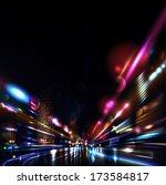 vector background. blurred... | Shutterstock .eps vector #173584817