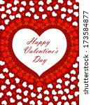 happy valentines day | Shutterstock .eps vector #173584877