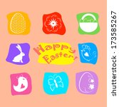 easter icon set. | Shutterstock . vector #173585267