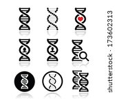 Dna  Genetics Vector Icons Set