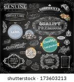 vector set of calligraphic... | Shutterstock .eps vector #173603213