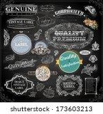 vector set of calligraphic... | Shutterstock .eps vector #173603213