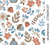 vector floral pattern with... | Shutterstock .eps vector #173604137