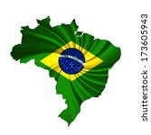 brazil map and white background | Shutterstock . vector #173605943