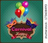 label carnival masks  ideal for ... | Shutterstock .eps vector #173608493