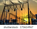 high voltage switchgear... | Shutterstock . vector #173614967