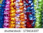 Colorful Hawaiian Lei Flowers