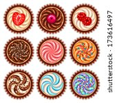 cute cupcake collection | Shutterstock .eps vector #173616497