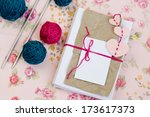 old notebook for love notes ... | Shutterstock . vector #173617373